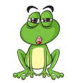 Suspicious Cartoon Frog vector image