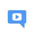 video chat icon vector image vector image