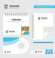 washing machine logo calendar template cd cover vector image