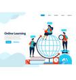 website design online learning and digital vector image vector image