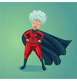 wonder old lady senior adult woman in super hero vector image