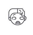 zomby emoji concept line editable concept vector image