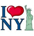 i love new york city poster design vector image