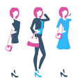 Logo for boutique clothing store online shop with vector image