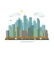 autumn city concept urban landscape vector image