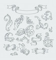 decorative elements in baroque style victorian vector image