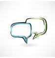 dialogue grunge icon vector image