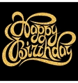Template for greeting card happy birthday with vector image