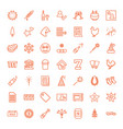 49 new icons vector image vector image