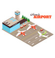 airport runway isometric view vector image