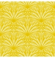 Art deco floral pattern in gold and white vector image vector image