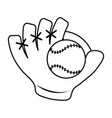 baseball glove and ball icon image vector image vector image
