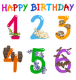 birthday greeting card set vector image vector image
