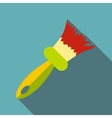 Brush icon flat style vector image vector image