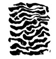 brush painted wave pattern black and white vector image