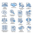 business management icons in line style pack 04 vector image vector image
