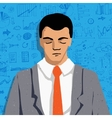 Businessman portrait - thinking man with business vector image