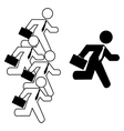 Businessmen running vector image