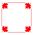 canadian flag symbolism maple red leaf border vector image vector image