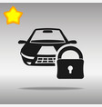 car lock black icon button logo symbol vector image