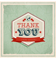 Card Thank You vector image vector image
