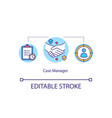 case manager concept icon vector image vector image