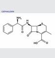 cephalexin formula vector image vector image