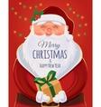 Christmas greeting card poster Santa Claus vector image vector image