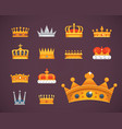 Collection of crown icons awards for winners