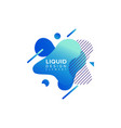 color abstract liquid shape fluid overlap vector image vector image