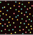 colorful modern seamless pattern with star shape vector image vector image