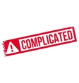 Complicated rubber stamp vector image vector image