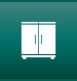cupboard icon on green background modern flat vector image vector image