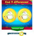 differences the funny egg 2 vector image vector image
