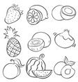 doodle of hand draw fruit vector image vector image