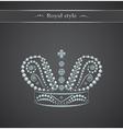 Elegant royal crown on a gray background Logo vector image