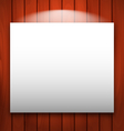 empty frame on wooden with light vector image vector image