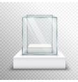Empty Glass Showcase Transparent