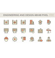 engineering and architecture icon set design vector image vector image
