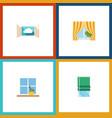 flat icon frame set of glass frame flowerpot vector image vector image
