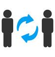 guys exchange arrows icon vector image vector image
