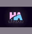 ha alphabet letter join joined letter logo design vector image vector image