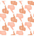 hands deaf-mute seamless pattern background vector image vector image