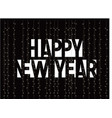 happy new year monochrome letters banner template vector image
