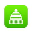 hat icon digital green vector image