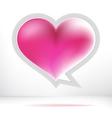 Heart speech bubble EPS8 vector image