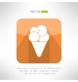 Ice cream icon in clean and simple flat design vector image