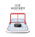 ice hockey playground arena 3d icon vector image vector image