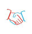 isolated business teamwork logo vector image vector image