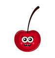 isolated happy cherry cartoon vector image